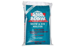 A bag of ice and snow melt